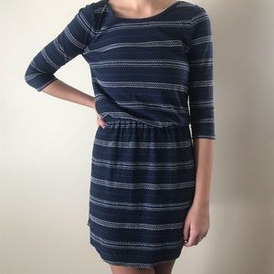 Blue  last one ! -3/4 sleeve dress
